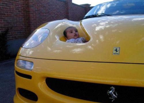 $First Staff Blog-BABY ON CAR