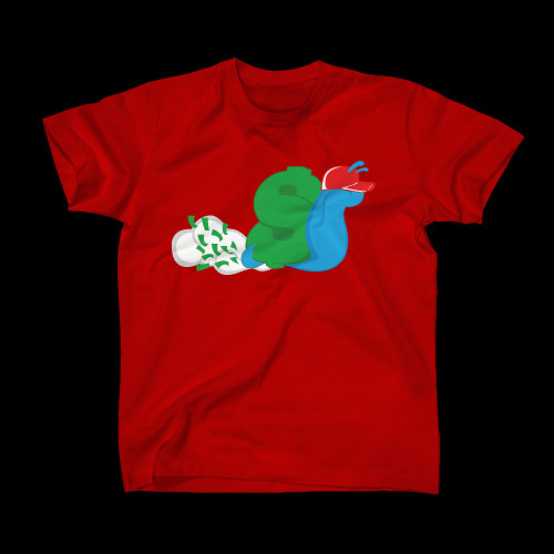 ☆ First Staff Blog ☆-SLOWBUCKS-Tシャツ-RED