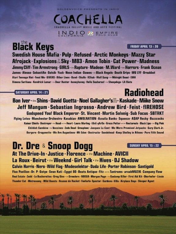 ☆ First Staff Blog ☆-Coachella 2012