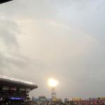 1日に虹を二度見ましたが