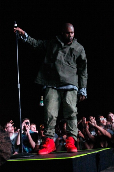 kanye west Red Nike Air Yeezy 2 Sneakers (1)